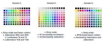 2017 color pallets the new standard color palette