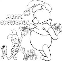 winnie pooh piglet coloring pages christmas christmas