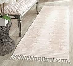 Flat Weave Cotton Area Rugs Safavieh Montauk Collection Mtk752a Handmade Flatweave