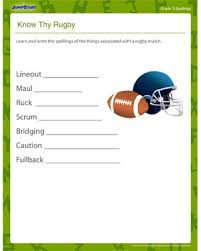 know thy rugby u2013 free spellings worksheets and printables for
