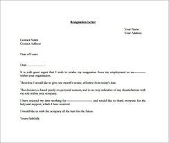 resignation letter template templatezet