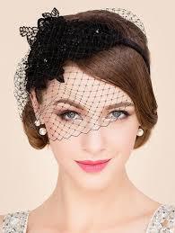 lace fascinator 2018 lace flower and veil design banquet party black