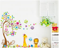 Removable Wall Decals For Nursery by Cartoon Diy Owl Giraffe Animals Removable Wall Sticker Cute Lion