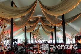 Ceiling Draping For Weddings Tent Liners U0026 Draping From Eventure Designs Toronto