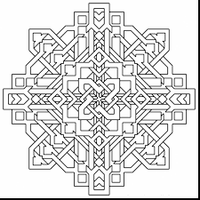 impressive geometric design coloring pages printable with free