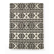 Ikea Adum Interiors Tribal Rug Native American Area Rugs Aztec Rug Black
