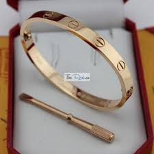 cartier bracelet pink gold images Cartier love bracelet copy pink gold plated real with screwdriver jpg