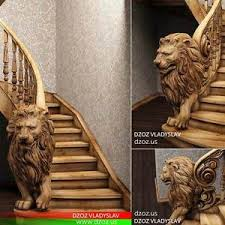 bas relief for stairs wood carved 3d sculpture statue