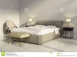 chambre a coucher contemporaine design lit en cuir tufté chic dans la chambre à coucher chic contemporaine