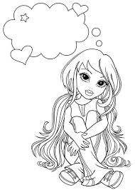 lexa daydreaming moxie girlz coloring pages lexa daydreaming