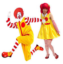spirit halloween clown costumes mr or mrs mcdonald clown costume couples complete fancy dress