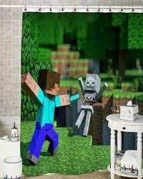 Minecraft Bathroom Accessories Shop Minecraft Curtains On Wanelo