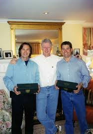 rob brown president bill clinton and todd davis at home in