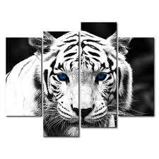 Wall Decor For Kitchen by Amazon Com Black U0026 White 4 Panel Wall Art Painting Blue Eyed