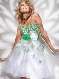 reviews green white sweetheart sleeveless tea length applique
