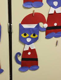 pete the cat saves christmas craft template cat craft and