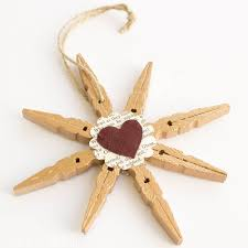clothespin snowflake ornaments snowflake ornaments frugal and