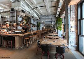 restaurant cuisine ouverte deco cuisine americaine annee