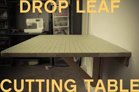 how to make a drop in sewing table grosgrain diy drop down cutting table