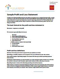 profit and loss statement free download edit fill create and