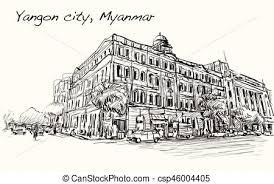 clip art of colonial building sketch colonial building pencil