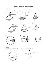 volume of cone worksheet worksheets releaseboard free printable
