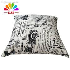 Newspaper Bedding Wholesale European Classic Newspaper Pattern Printed Design Cotton