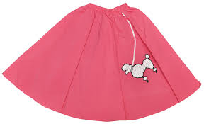 girls poodle skirt pink halloween costume size one size fits most