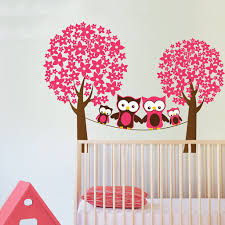 Owl Nursery Wall Decals by Owls Wall Stickers Trees And Blossom Kids Stickers And Children U0027s