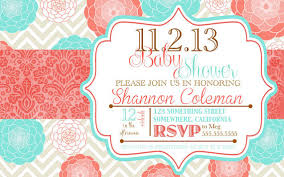 coral baby shower coral and turquoise baby shower invitations