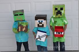 minecraft costume diy minecraft creeper steve and costume keeping it