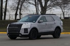 suv ford explorer 2019 ford explorer finally spied in close to production form