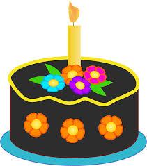 clipart chocolate birthday cake