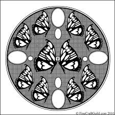 difficult coloring pages mandala easter eggs u0026 butterflies