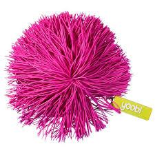pom pom keychain pink yoobi
