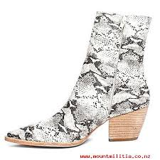 womens mid calf boots nz s boots matisse caty mid calf boots in black white snake