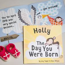 baby 1st year book the day you were born personalised new baby book by fromlucy