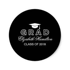graduation cap stickers graduation cap black white grad party classic