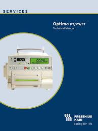 fresenius kabi optima pt vs st technical manual power supply