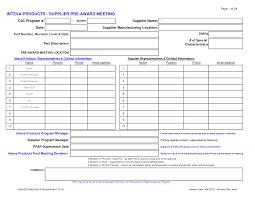 vendor form template profit and loss form
