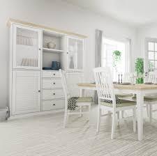 Esszimmer St Le F Runden Tisch Tvilum Landhaus Tischgruppe Paris 5tlg Weiß Einfarbig Günstig Kaufen