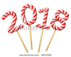 new year stuff new year 2018 shape candy on stock vector 760231009