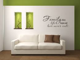 wall decal quote family where life begins vinyl wall decal zoom