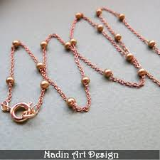 ball bead necklace images Ball chain necklace copper links brass bead chain ready to wear jpg