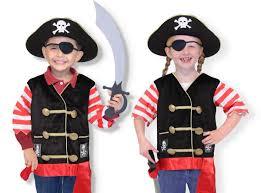 amazon com melissa u0026 doug pirate role play costume dress up set