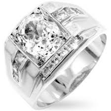 all diamond ring men s iced 14k white gold bonded 3 25ct simulated diamond ring