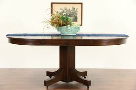 Craftsman Dining Table by Sold Arts U0026 Crafts Mission Oak Round 1910 Antique Craftsman