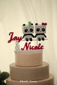 mr and mrs tabbycat wedding cake topper this bride and groom was