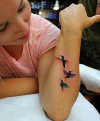 flying birds cute tattoo designs for girls styles time