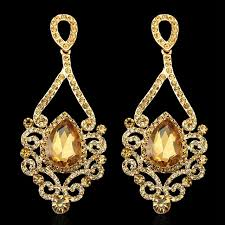 bridal chandelier earrings hot selling fashion exquisite gold chandelier earrings for